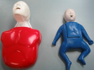 Child and Infant Manikin for CPR Training
