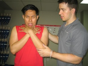 Helping a Choking Victim - Continue coughing